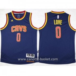 Maglie nba bambino Cleveland Cavalier Kevin Love #0 blu