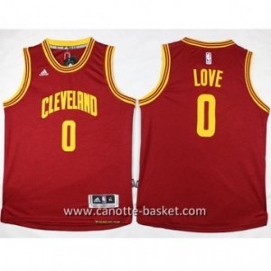 Maglie nba bambino Cleveland Cavalier Kevin Love #0 rosso