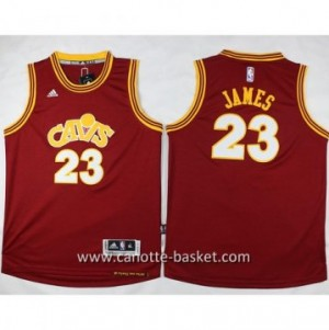 Maglie nba bambino Cleveland Cavalier LeBron James #23 Retro rosso