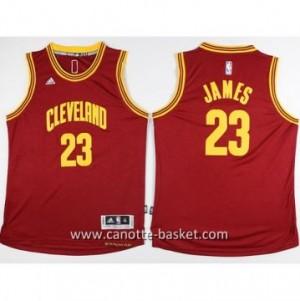 Maglie nba bambino Cleveland Cavalier LeBron James #23 rosso