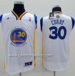 Maglie nba bambino Golden State Warriors Stephen Curry #30 bianco