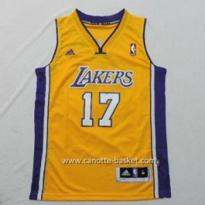 Maglie nba bambino Los Angeles Lakers Jeremy Lin #17 giallo