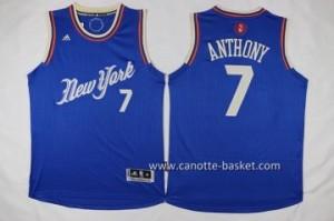 Maglie nba bambino New York Knicks Carmelo Anthony #7 blu