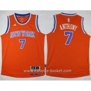 Maglie nba bambino New York Knicks Carmelo Anthony #7 arancione
