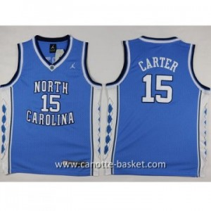 Maglie nba bambino University of North Carolina Carter #15 blu