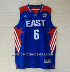 Maglie 2013 All-Star LeBron James #6 blu