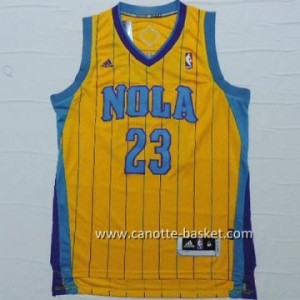 Maglie nba New Orleans Pelicans Anthony Davis #23 giallo