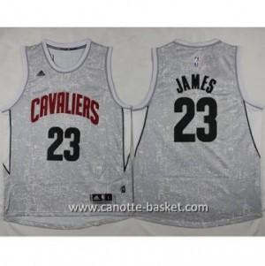Maglie nba Cleveland Cavalier LeBron James #23 grigio