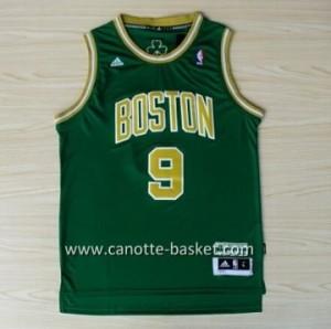 Maglie nba Boston Celtics Rajon Rondo #9 verde parola d'oro