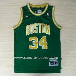 Maglie nba Boston Celtics Paul Pierce #34 verde parola d'oro