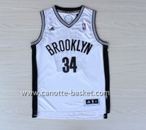 Maglie nba Brooklyn Nets Paul Pierce #34 bianco