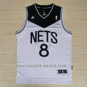 Maglie nba Brooklyn Nets Deron Williams #8 bianco