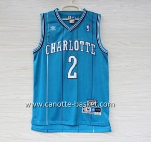 Maglie nba Charlotte Hornet Larry Johnson #2 blue