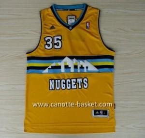 Maglie nba Denver Nuggets Kenneth Faried #35 giallo