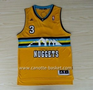 Maglie nba Denver Nuggets Ty Lawson #3 giallo