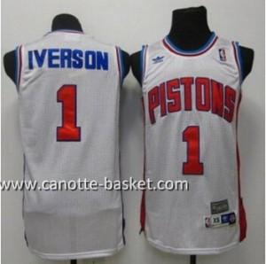 Maglie nba Detroit Pistons Allen Iverson #1 bianco