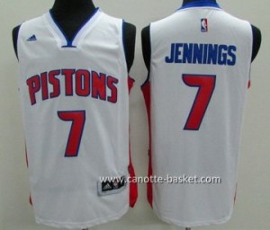 Maglie nba Detroit Pistons Brandon Jennings #7 bianco