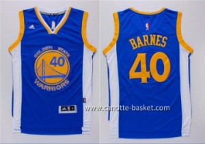 nuovo Maglie nba Golden State Warriors Harrison Barnes #40 blu