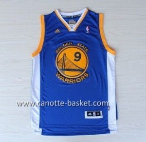 nuovo Maglie nba Golden State Warriors Andre Iguodala #9 blu