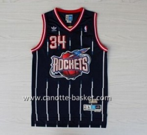 Maglie nba Houston Rockets Hakeem Olajuwon #34 blu