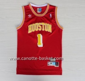 Maglie nba Houston Rockets Tracy McGrady #1 rosso Retro