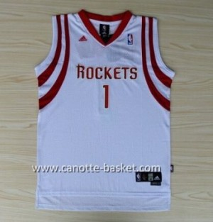 Maglie nba Houston Rockets Tracy McGrady #1 bianco