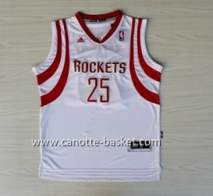 Maglie nba Houston Rockets Chandler Parsons #25 bianco