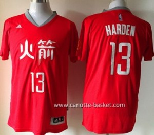 Maglie nba Houston Rockets James Harden #13 rosso manica lunga