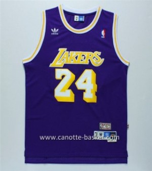 Maglie nba Los Angeles Lakers Kobe Bryant #24 Retro porpora