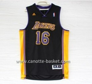 Maglie nba Los Angeles Lakers Pau Gasol #16 nero
