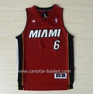 nuovo Maglie nba Miami Heat LeBron James #6 rosso