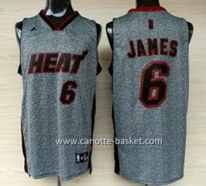 Maglie nba Miami Heat LeBron James #6 Statico Fashion