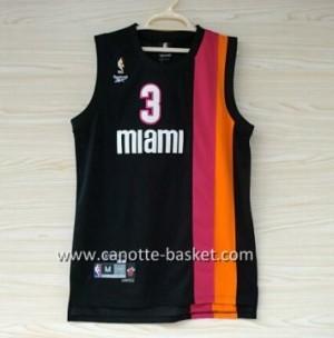 nuovo Maglie nba Miami Heat Dwyane Wade #3 arcobaleno nero