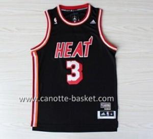 nuovo Maglie nba Miami Heat Dwyane Wade #3 retro nero