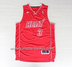 nuovo Maglie nba Miami Heat Dwyane Wade #3 rosso