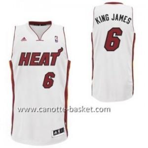 nuovo Maglie nba Miami Heat KING JAMES #6 bianco