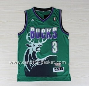 Maglie nba Milwaukee Bucks Brandon Jennings # 3 verde