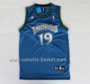 Maglie nba Minnesota Timberwolves Sam Cassell #19 blu