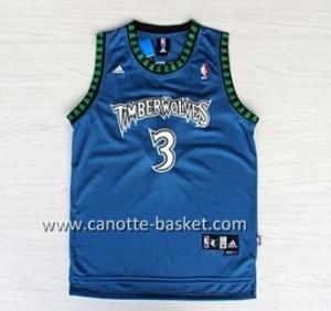 Maglie nba Minnesota Timberwolves Brandon Roy #3 blu