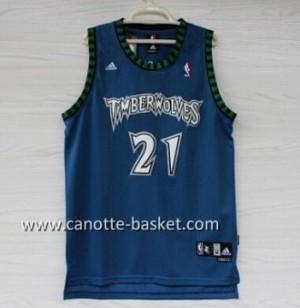 Maglie nba Minnesota Timberwolves Kevin Garnett #21 blu