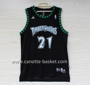 Maglie nba Minnesota Timberwolves Kevin Garnett #21 nero