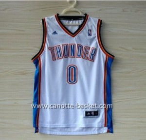 Maglie nba Oklahoma City Thunde Russell Westbrook #0 bianco