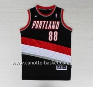 Maglie nba Portland Blazers Nicolas Batum #88 nero