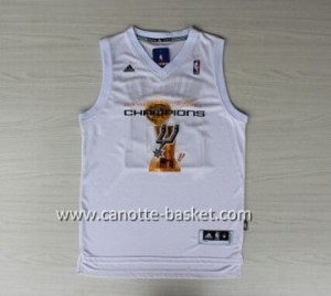 Maglie nba San Antonio Spurs Kawhi Leonard #2 bianco 2014 campioni