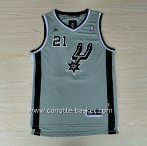 Maglie nba San Antonio Spurs Tim Duncan #21 grigio