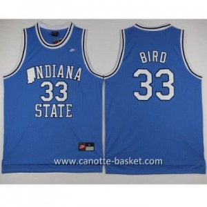 Maglie nba NCAA Indiana University Larry Bird #33 blu