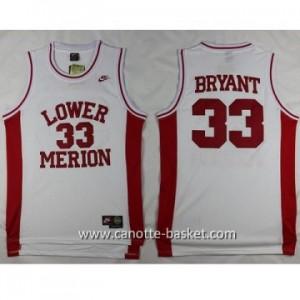 cantte nba NCAA LOWER MERION Kobi Bryant #33 bianco