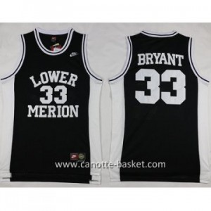 cantte nba NCAA LOWER MERION Kobi Bryant #33 nero