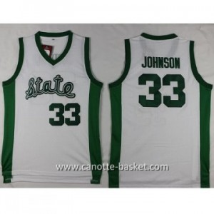 Maglie nba NCAA Michigan Spartans Magia Joe Johnson #33 bianco