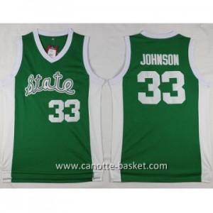 Maglie nba NCAA Michigan Spartans Magia Joe Johnson #33 verde